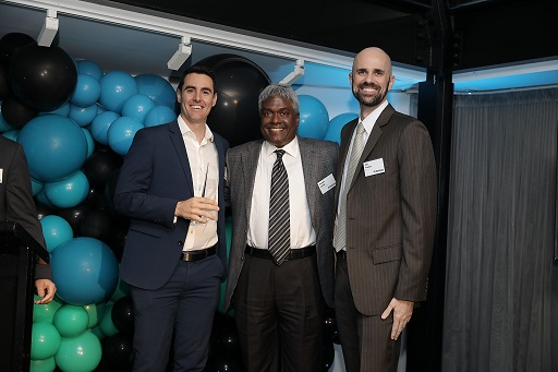 Brock Rhodes and Jay Turner of Xpanse with NetApp CEO George Kurian
